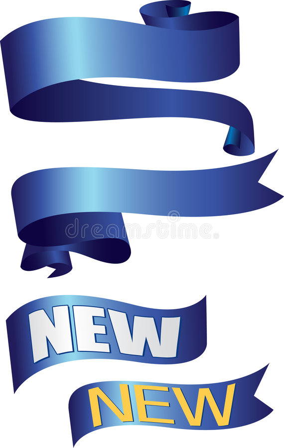 μπλε κορδέλλες κορδε&lam απεικόνιση αποθεμάτων