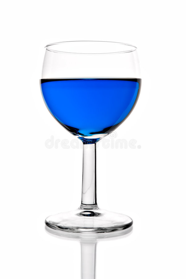 μπλε κρασί ποτού γυαλιού στοκ εικόνες