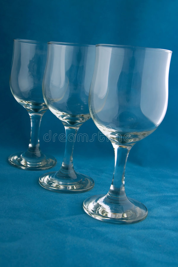 μπλε κρασί glasse στοκ φωτογραφίες
