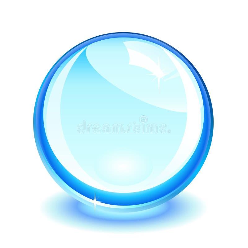 μπλε κρύσταλλο σφαιρών απεικόνιση αποθεμάτων