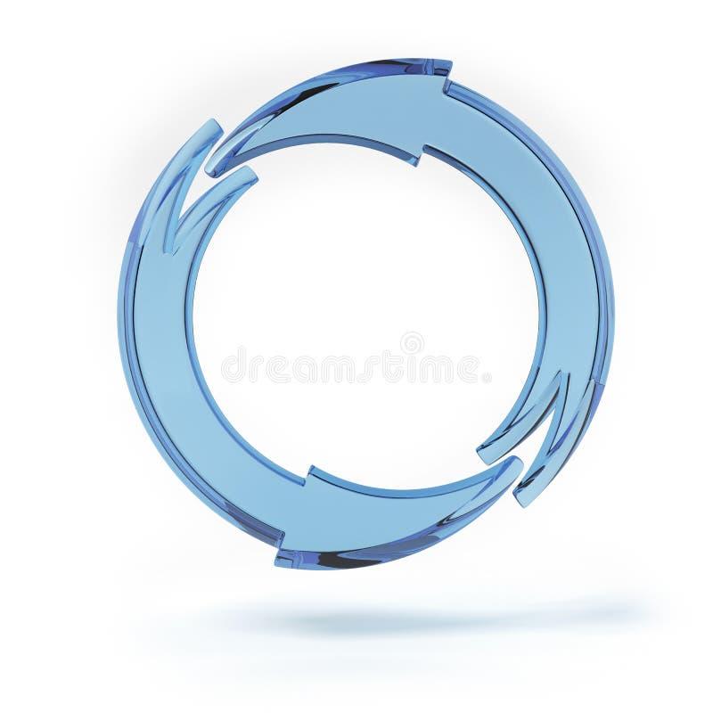 Μπλε κυκλικά βέλη ελεύθερη απεικόνιση δικαιώματος