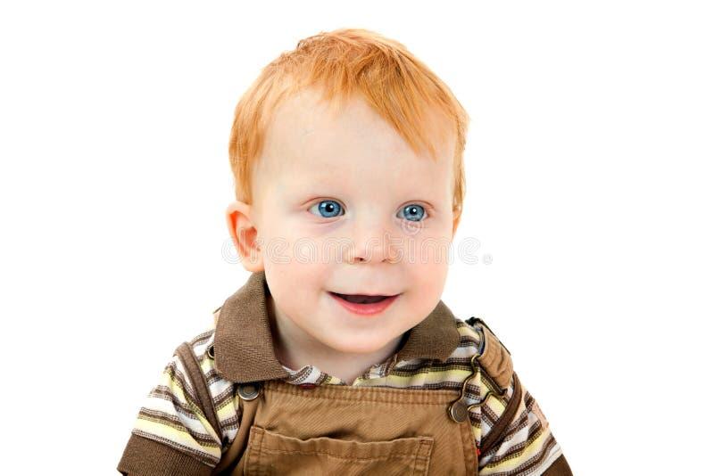 μπλε κόκκινο πορτρέτου τριχώματος ματιών αγοριών στοκ εικόνα