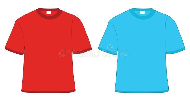 μπλε κόκκινο πουκάμισο τ διανυσματική απεικόνιση