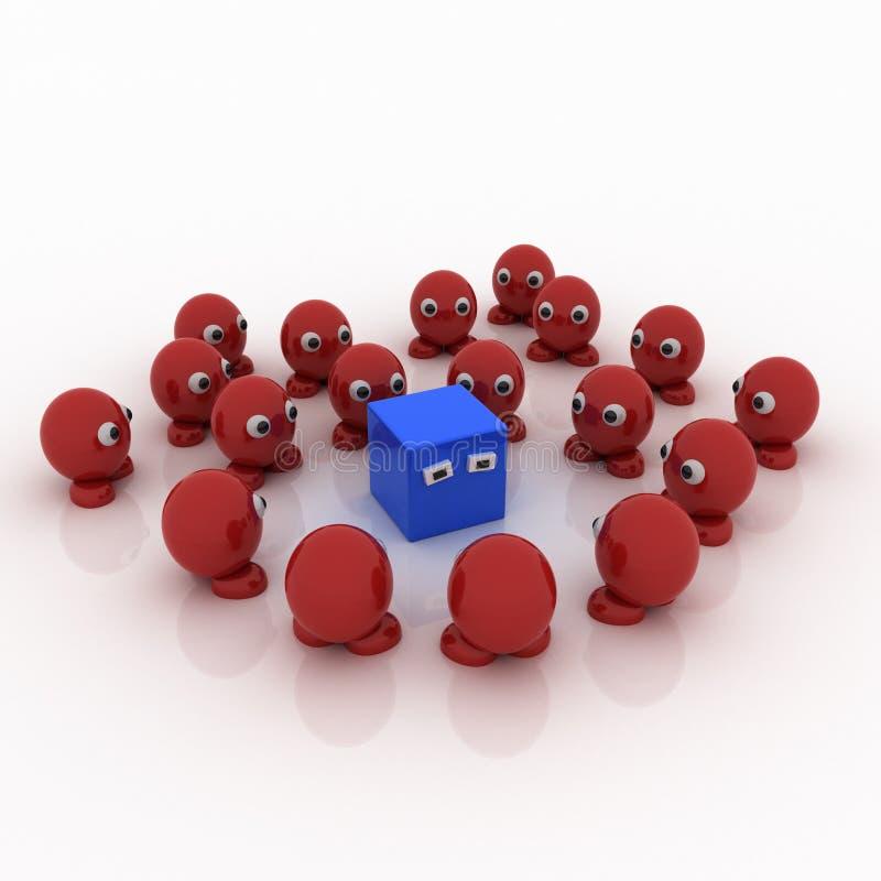 μπλε κόκκινο τετράγωνο μ&alph στοκ φωτογραφίες με δικαίωμα ελεύθερης χρήσης