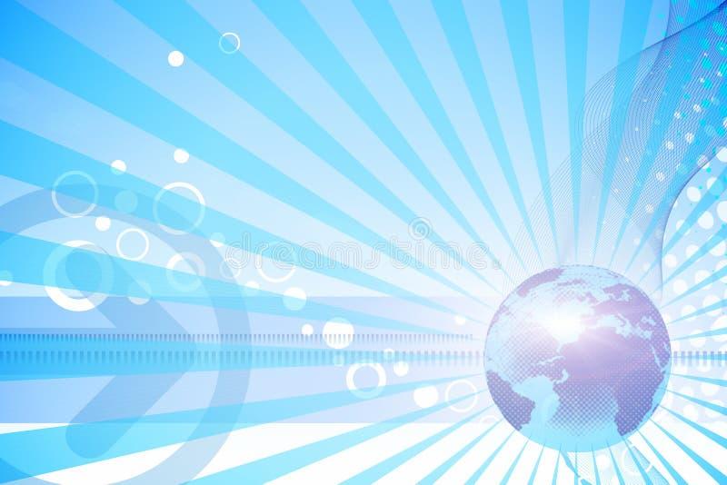 μπλε κόσμος ειδήσεων απεικόνιση αποθεμάτων