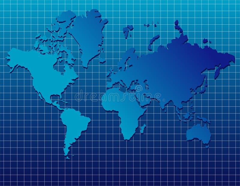 μπλε κόσμος χαρτών απεικόνιση αποθεμάτων