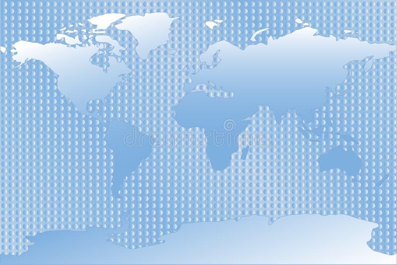 μπλε κόσμος χαρτών ελεύθερη απεικόνιση δικαιώματος