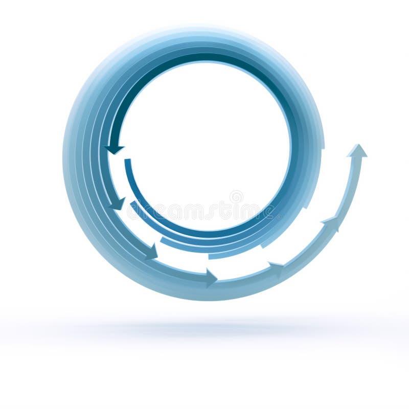 Μπλε κύκλοι βελών απεικόνιση αποθεμάτων