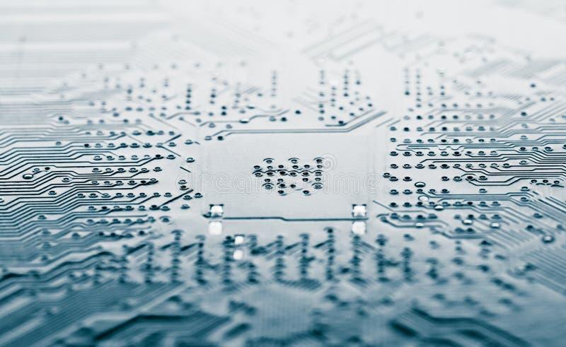 μπλε κύκλωμα ηλεκτρονι&kap στοκ εικόνες