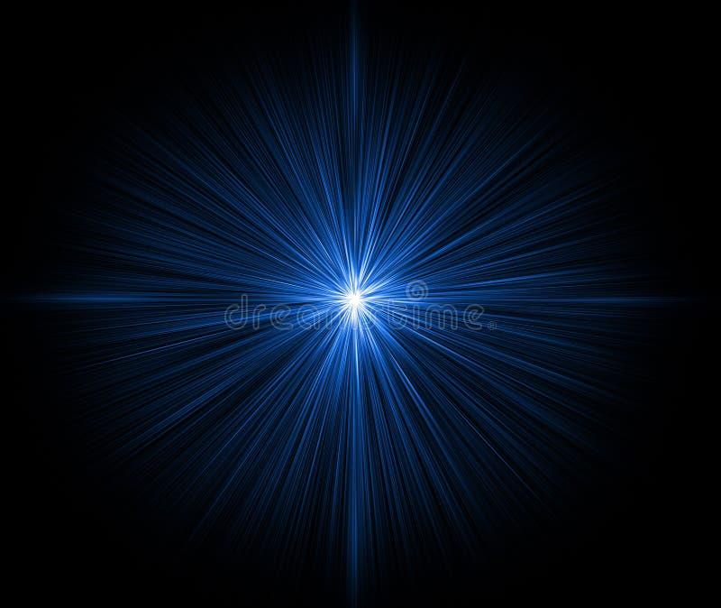 μπλε λάμποντας αστέρι ελεύθερη απεικόνιση δικαιώματος