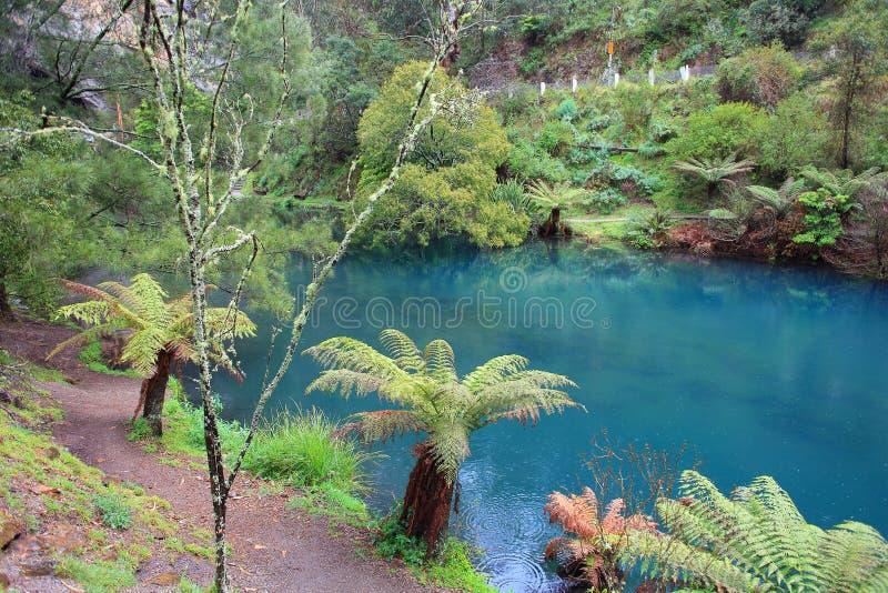 Μπλε λίμνη στις σπηλιές Jenolan στοκ φωτογραφίες με δικαίωμα ελεύθερης χρήσης