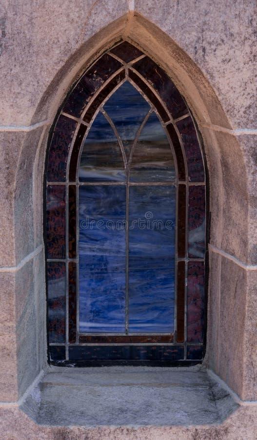 μπλε λεκιασμένο γυαλί π&alp στοκ εικόνες