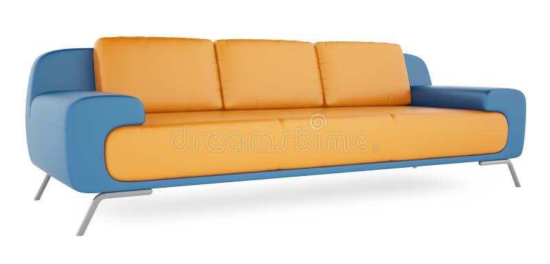 μπλε λευκό καναπέδων ανασκόπησης στοκ εικόνες με δικαίωμα ελεύθερης χρήσης