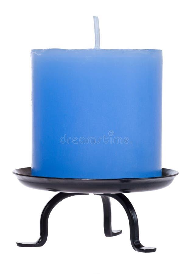 μπλε λευκό κεριών στοκ εικόνες με δικαίωμα ελεύθερης χρήσης
