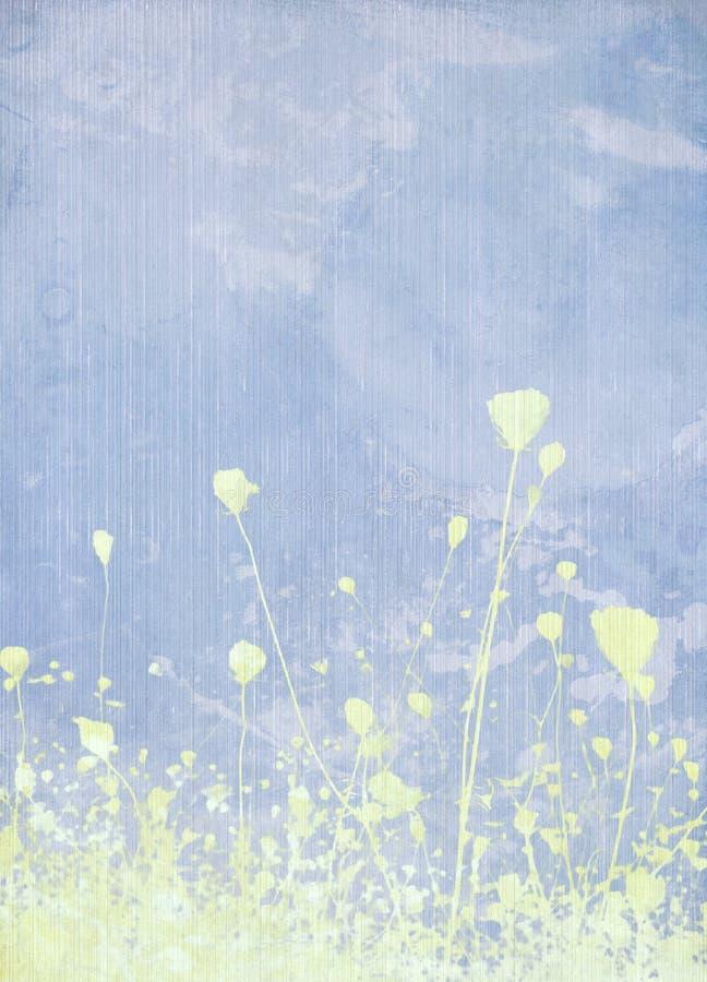 μπλε λιβάδι λουλουδιώ&nu απεικόνιση αποθεμάτων