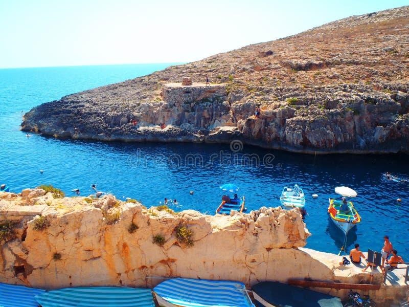 Μπλε λιμνοθάλασσα της Μάλτας στοκ εικόνες