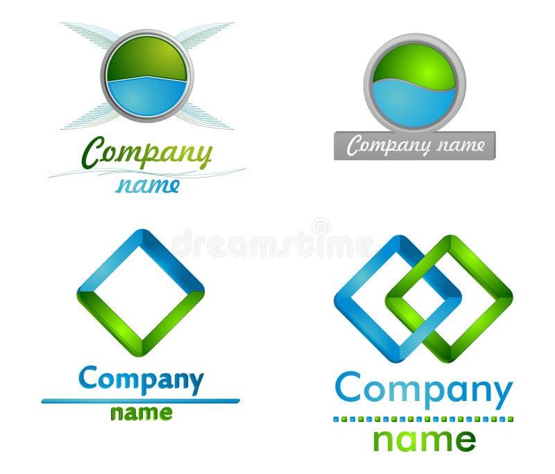 μπλε λογότυπο green3d στοκ φωτογραφία με δικαίωμα ελεύθερης χρήσης