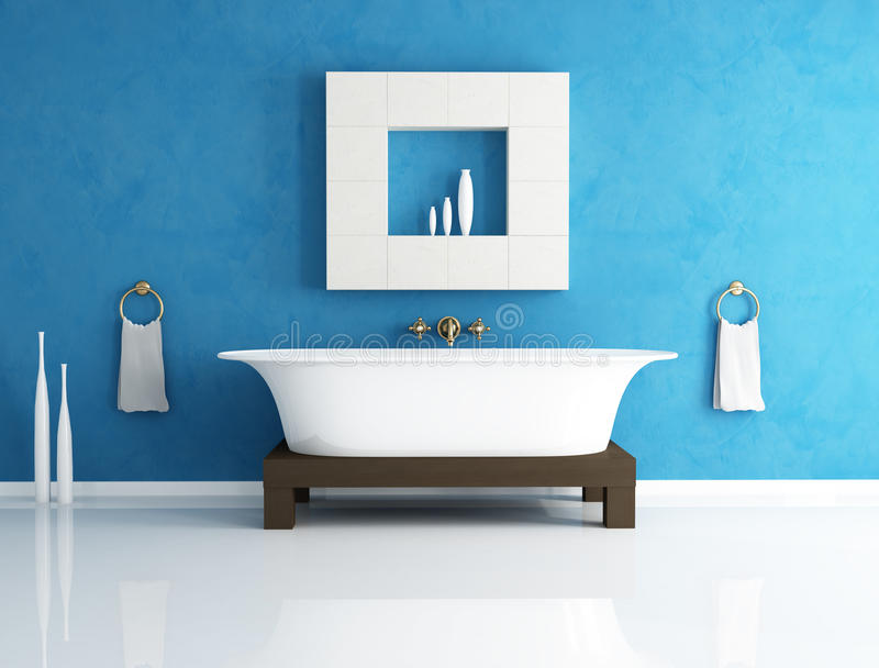 μπλε λουτρών διανυσματική απεικόνιση