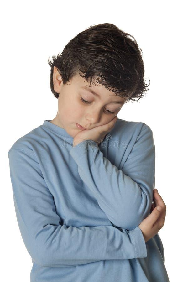 μπλε λυπημένο πουκάμισο &p στοκ εικόνα με δικαίωμα ελεύθερης χρήσης