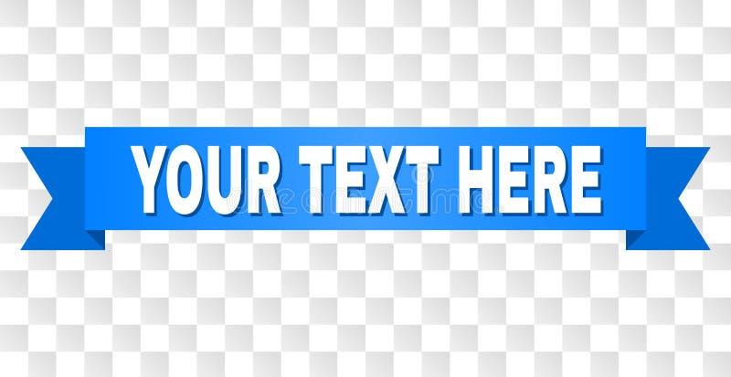 Μπλε λωρίδα με το κείμενο ΚΕΙΜΕΝΩΝ ΣΑΣ ΕΔΩ διανυσματική απεικόνιση