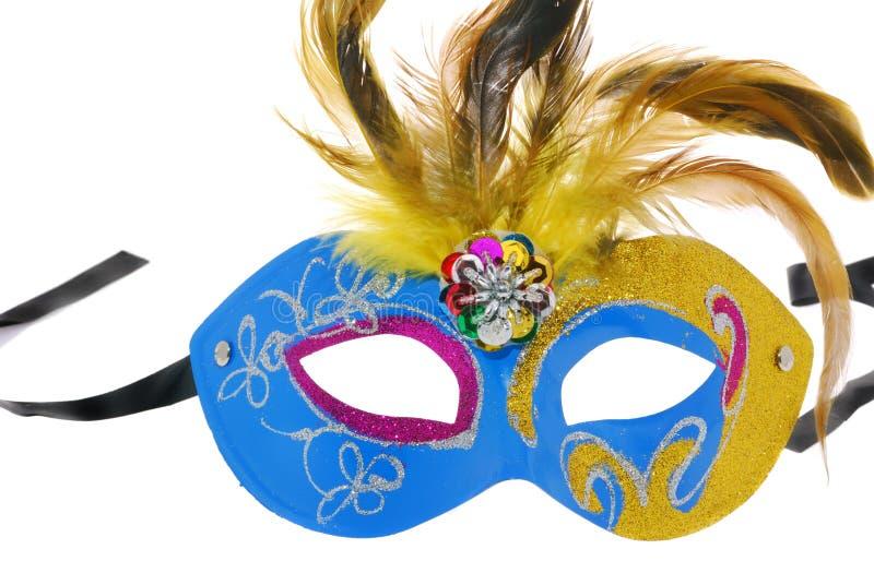 μπλε μάσκα κίτρινη στοκ εικόνα