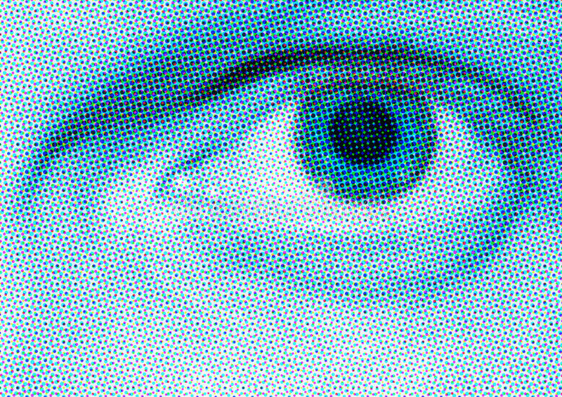 μπλε μάτι ημίτονο στοκ εικόνα