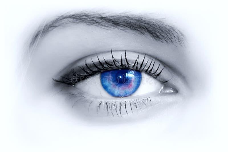 μπλε μάτι στοκ εικόνα με δικαίωμα ελεύθερης χρήσης