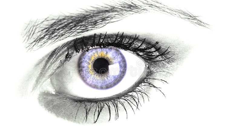 Μπλε μάτι στοκ φωτογραφία