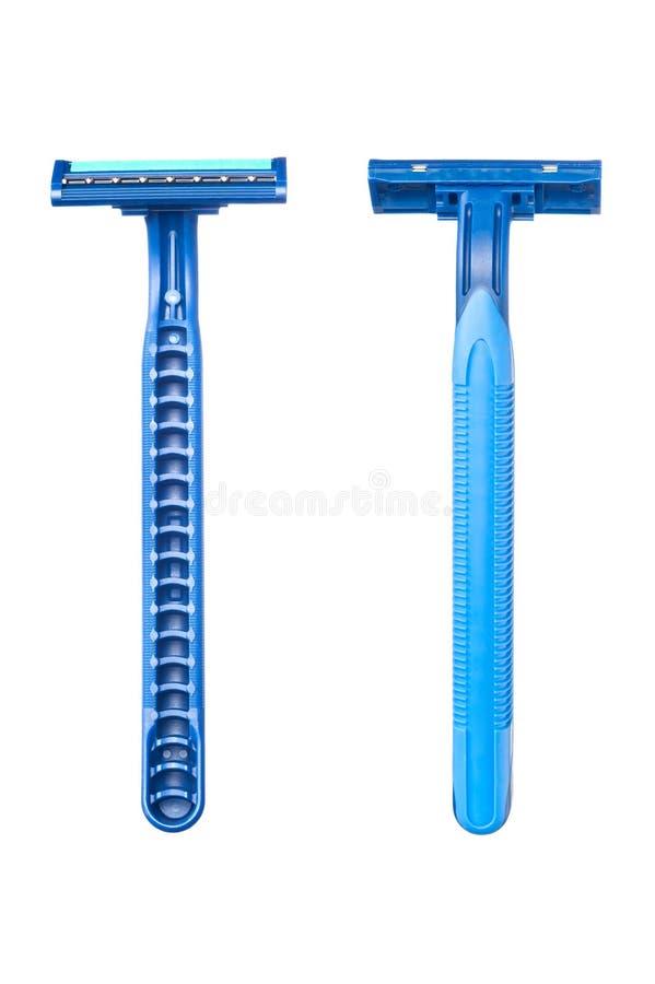 μπλε μίας χρήσης ξυράφι λεπίδων στοκ φωτογραφία με δικαίωμα ελεύθερης χρήσης