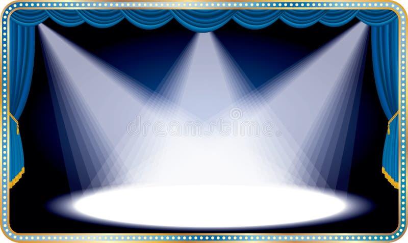Μπλε μακροχρόνιο στάδιο διανυσματική απεικόνιση