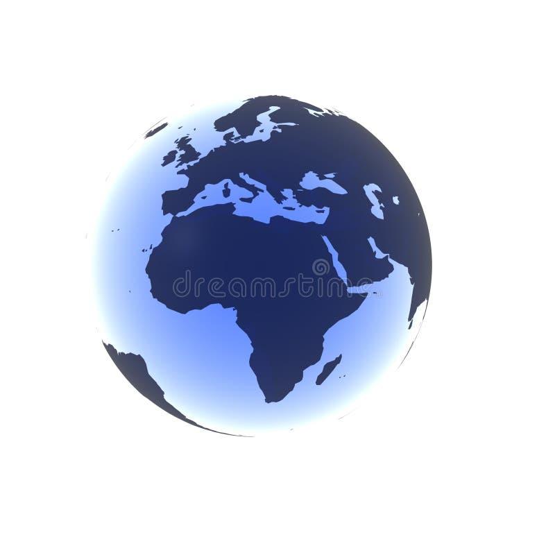 μπλε μαλακός της Αφρικής απεικόνιση αποθεμάτων