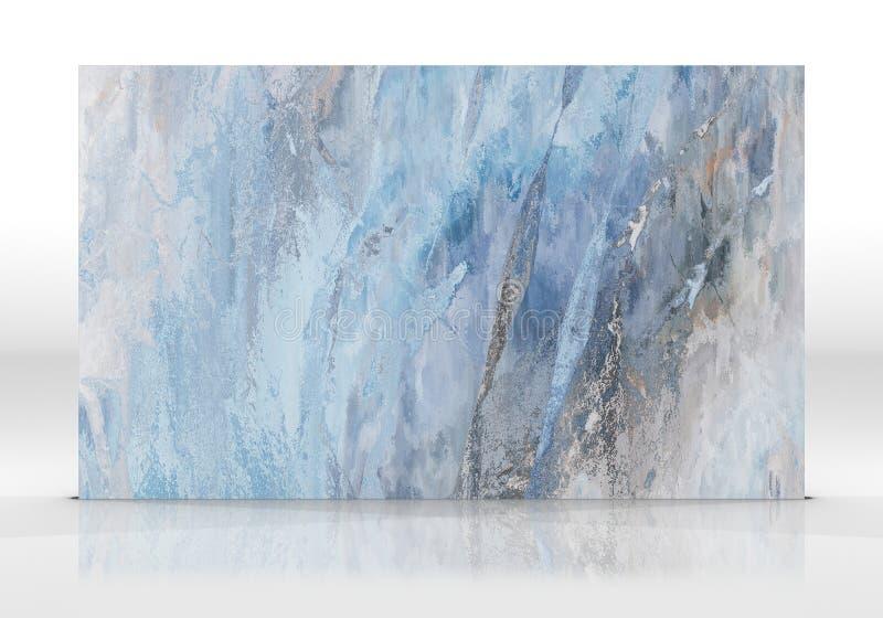 Μπλε μαρμάρινο κεραμίδι στο άσπρο υπόβαθρο διανυσματική απεικόνιση