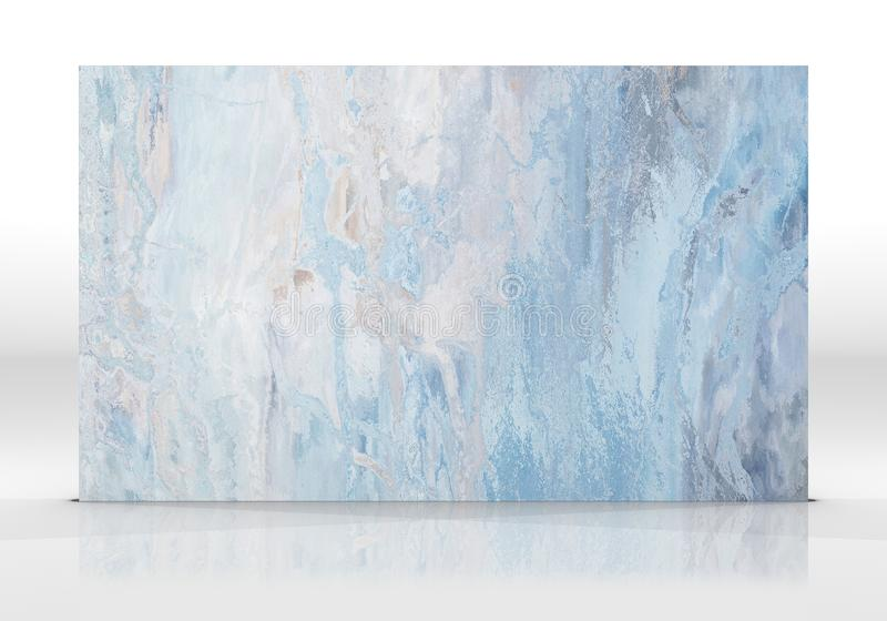 Μπλε μαρμάρινο κεραμίδι στο άσπρο υπόβαθρο ελεύθερη απεικόνιση δικαιώματος