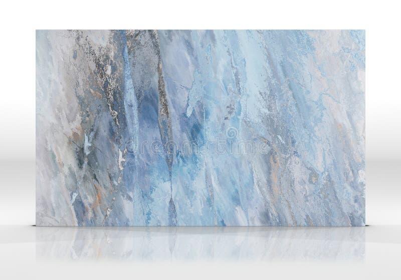 Μπλε μαρμάρινο κεραμίδι στο άσπρο υπόβαθρο απεικόνιση αποθεμάτων