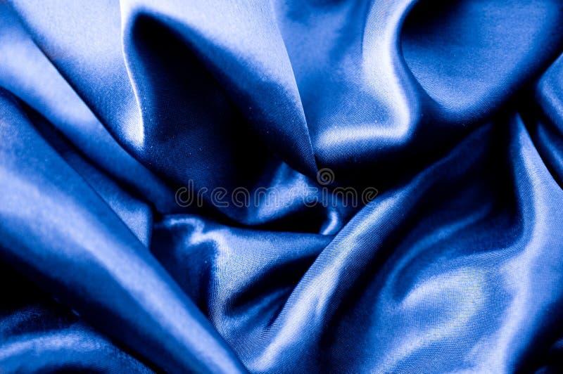 μπλε μετάξι υφάσματος στοκ φωτογραφία με δικαίωμα ελεύθερης χρήσης