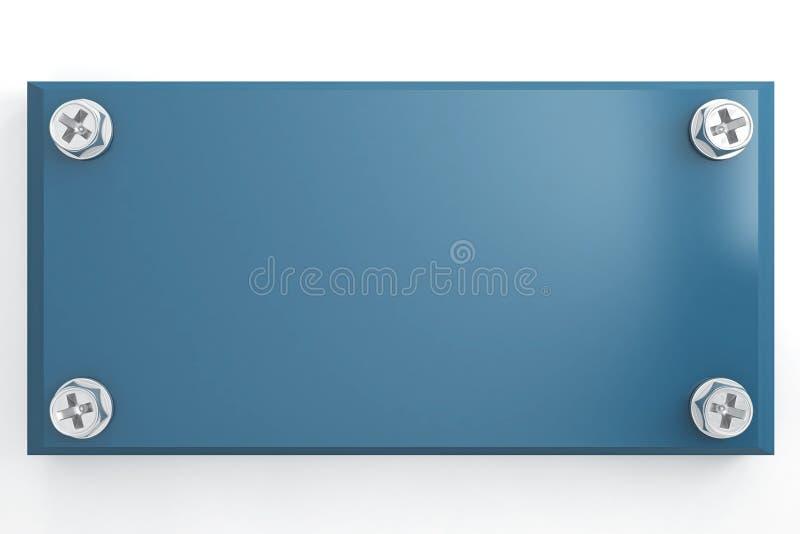 μπλε μεταλλική ταμπλέτα απεικόνιση αποθεμάτων
