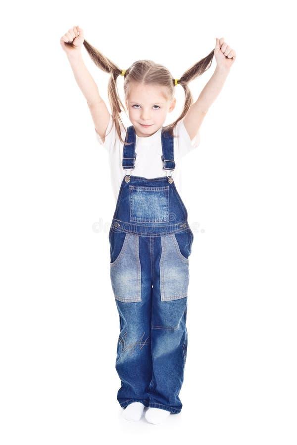 μπλε μικρές φόρμες κοριτσ στοκ εικόνες με δικαίωμα ελεύθερης χρήσης