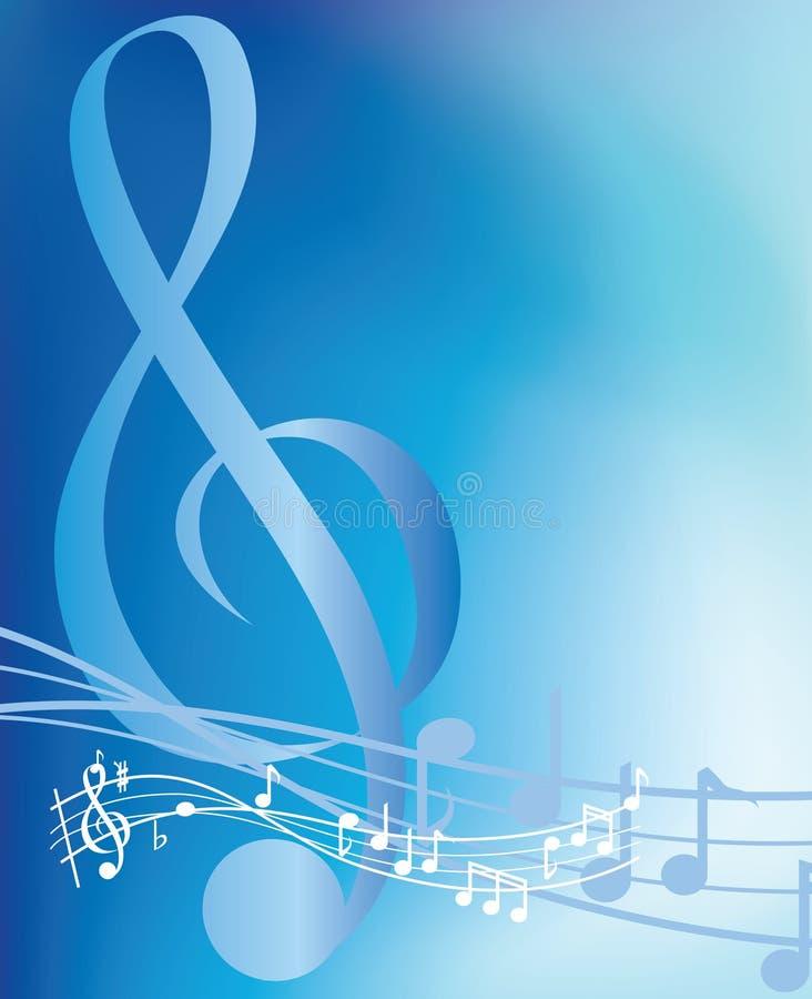 μπλε μουσικές νότες διανυσματική απεικόνιση