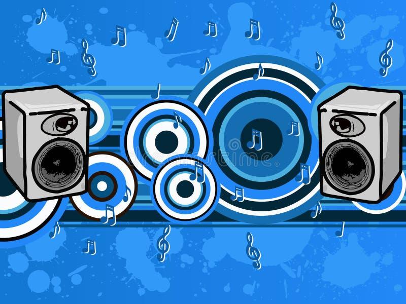 Μπλε μουσικής στοκ φωτογραφία με δικαίωμα ελεύθερης χρήσης