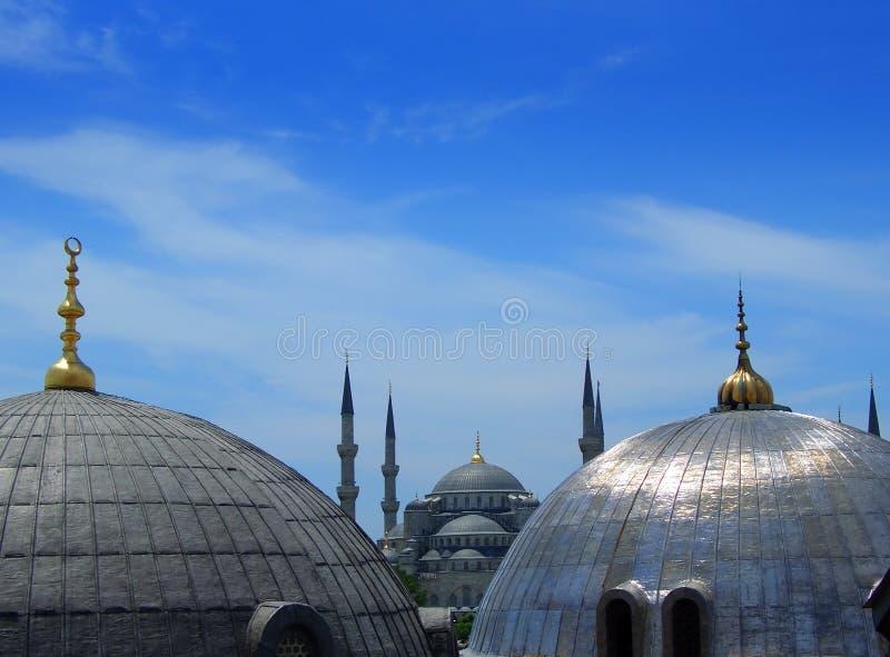 μπλε μουσουλμανικό τέμενος της Κωνσταντινούπολης στοκ εικόνες με δικαίωμα ελεύθερης χρήσης