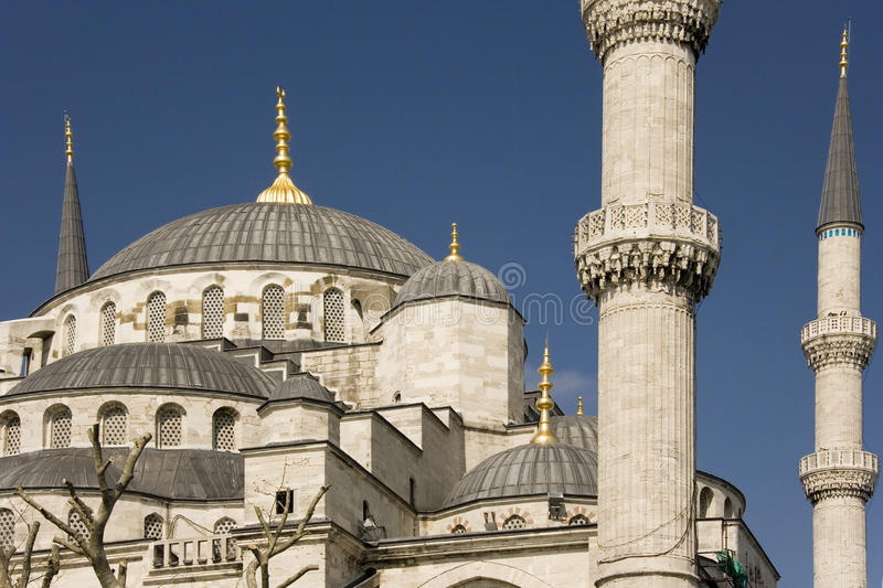μπλε μουσουλμανικό τέμε στοκ εικόνες