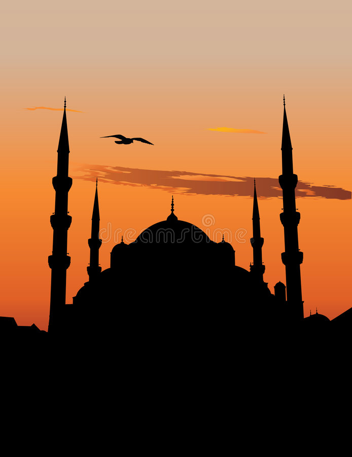 μπλε μουσουλμανικό τέμε ελεύθερη απεικόνιση δικαιώματος