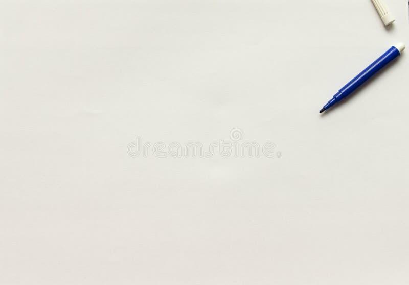 Μπλε μόνιμη μάνδρα δεικτών στοκ φωτογραφίες με δικαίωμα ελεύθερης χρήσης