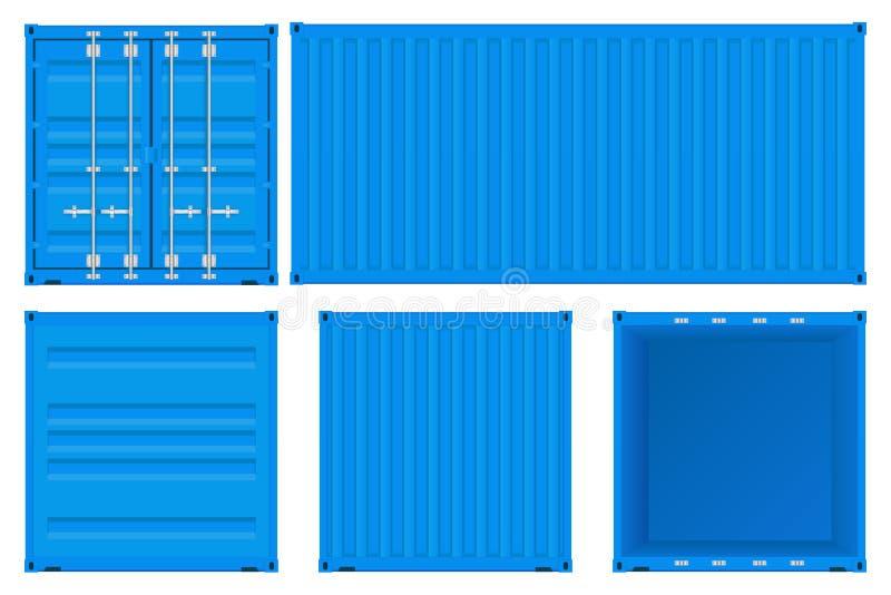 μπλε ναυτιλία εμπορευμ&al ελεύθερη απεικόνιση δικαιώματος
