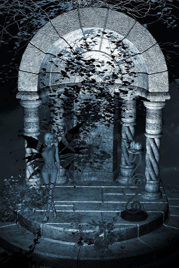 μπλε ναός νεράιδων ανασκόπ&e ελεύθερη απεικόνιση δικαιώματος
