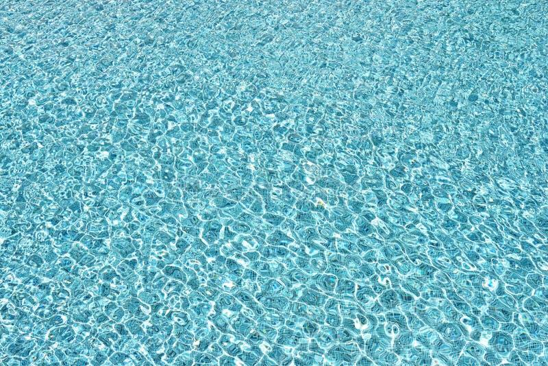Μπλε νερό λιμνών με τις αντανακλάσεις ήλιων στοκ εικόνες