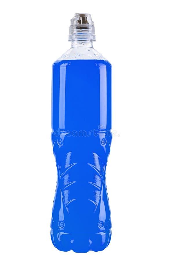 Μπλε νερό σε ένα πλαστικό μπουκάλι στοκ φωτογραφίες με δικαίωμα ελεύθερης χρήσης