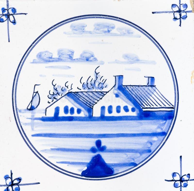 μπλε Ντελφτ διανυσματική απεικόνιση