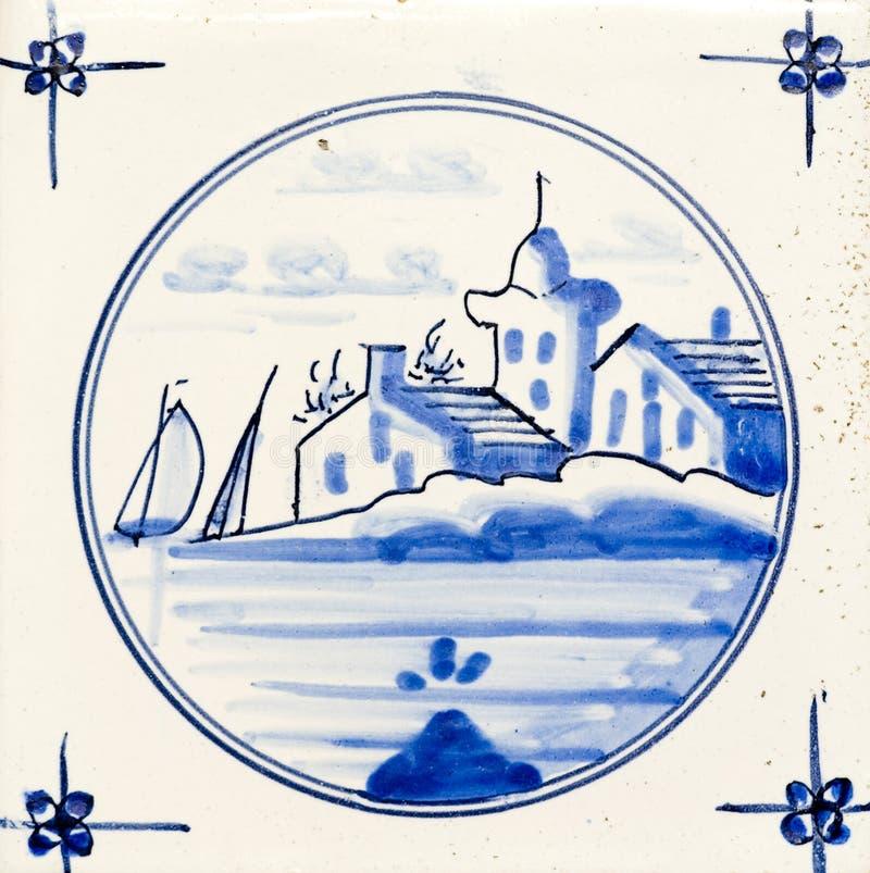 μπλε Ντελφτ στοκ φωτογραφία με δικαίωμα ελεύθερης χρήσης