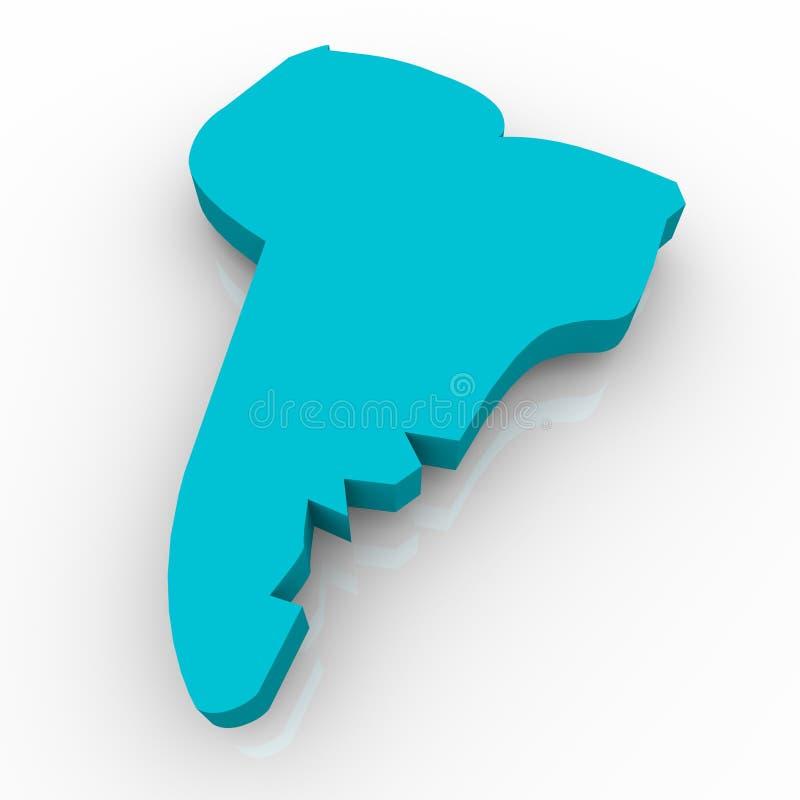 μπλε νότος χαρτών της Αμερ&iot διανυσματική απεικόνιση